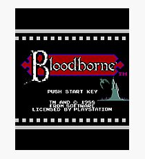 8-Bit Bloodborne Title Screen(Alternate Version with Black Background) Photographic Print