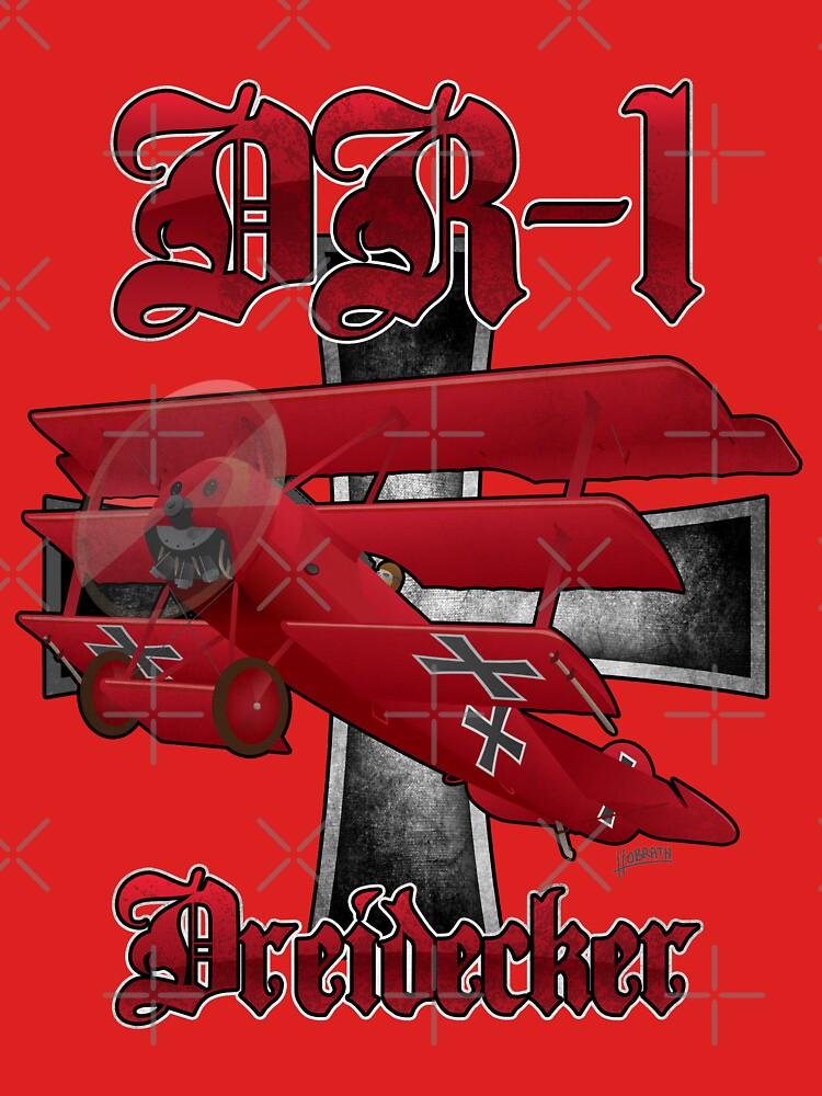 DR-1 Red Baron Triplane WWI Warbird by hobrath