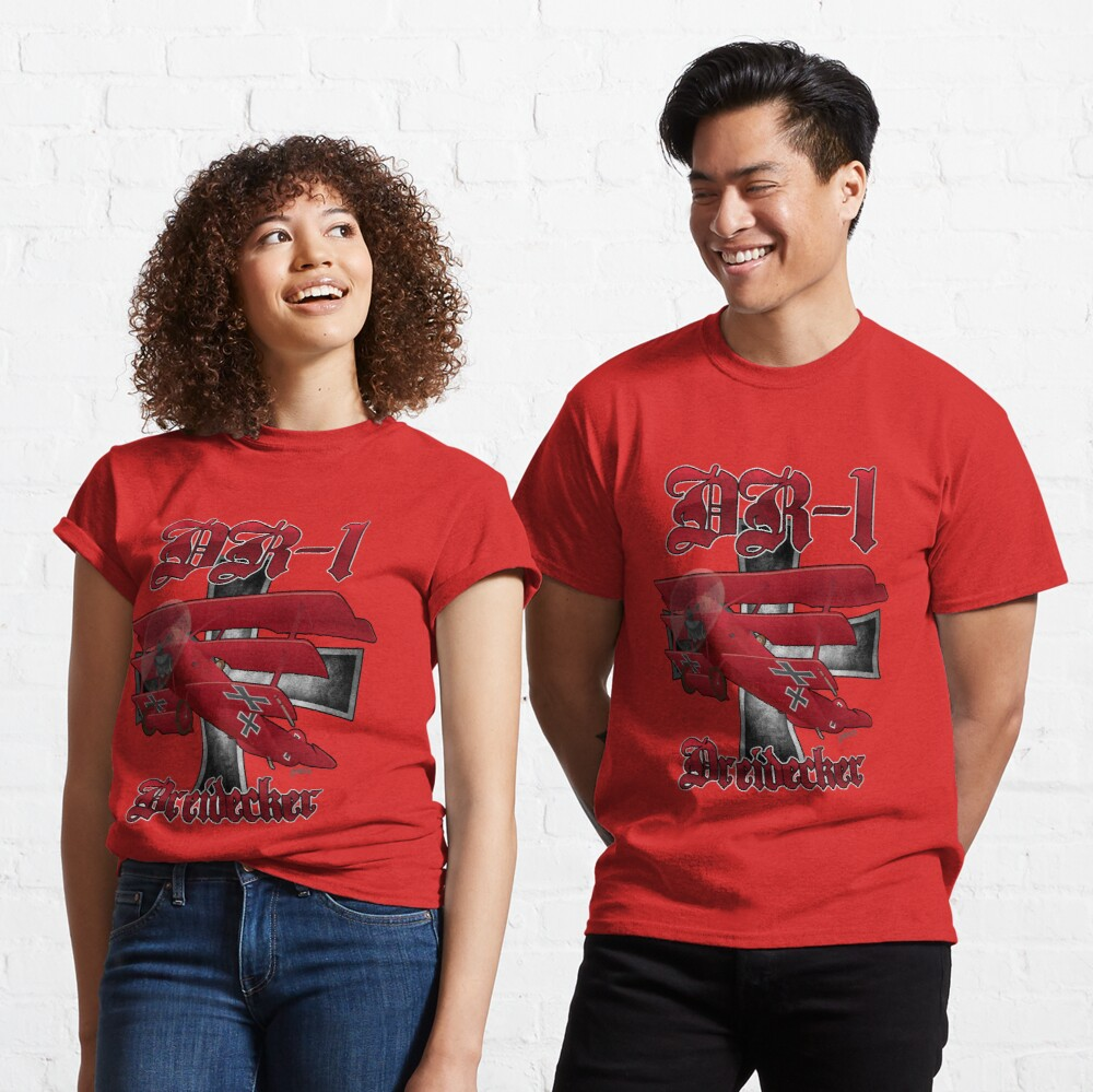 DR-1 Red Baron Triplane WWI Warbird Classic T-Shirt