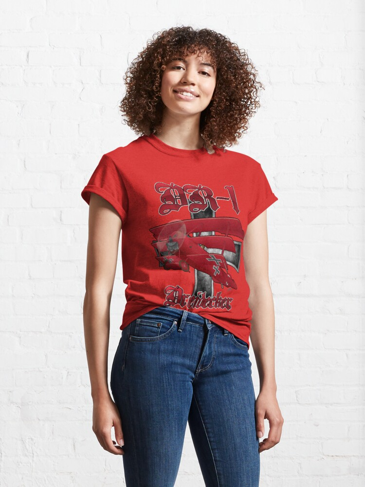 Alternate view of DR-1 Red Baron Triplane WWI Warbird Classic T-Shirt