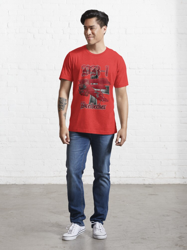 Alternate view of DR-1 Red Baron Triplane WWI Warbird Essential T-Shirt