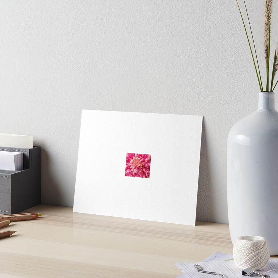 Grafisches rosa Jahrbuch Galeriedruck