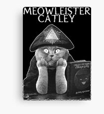 Meowleister Catley Canvas Print