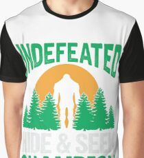 Bigfoot Undefeated Hide & Seek Gifts Graphic T-Shirt