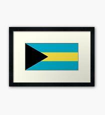 The Bahamas Flag Design Framed Print