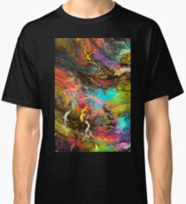 Abstract Space Lightening Storm Classic T-Shirt