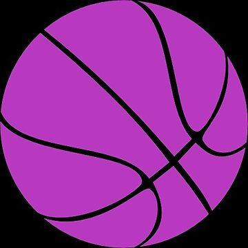 Purple Basketball by Distrill