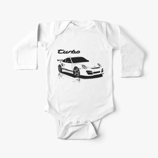 turbo - porsche 911 Long Sleeve Baby One-Piece