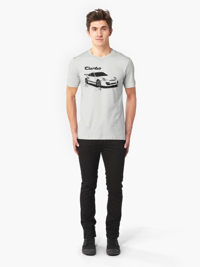 Vista alternativa de Camiseta ajustada turbo - porsche 911