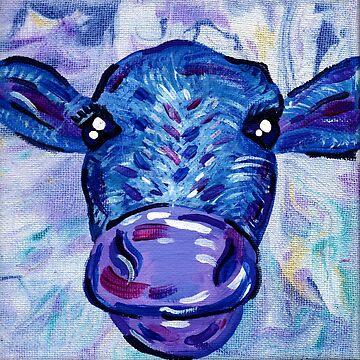 Sweet Blue Moo Cow by missmann
