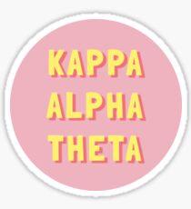 Kappa Alpha Theta (Pink and Yellow) Sticker