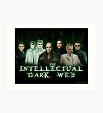 Das intellektuelle dunkle Netz - Matrix-Parodie Kunstdruck