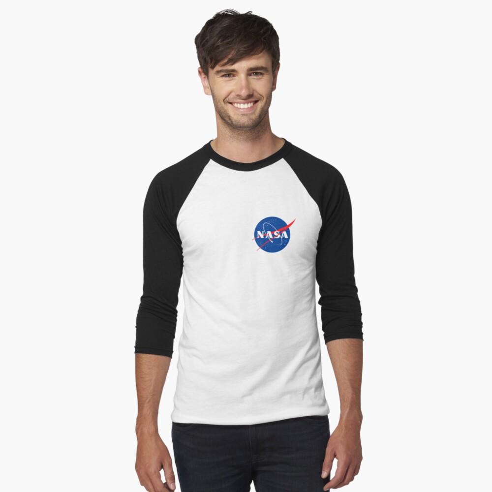 Nasa Men's Baseball ¾ T-Shirt Front