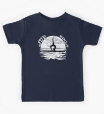 SUP yoga pose Stand Up Paddle Boarding distressed design Kids Tee