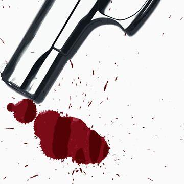 Bloody hand gun by naffarts