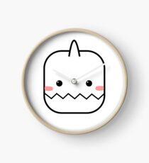 Cute Yeti Blush Emoji Clock