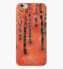 Birches - Autumn Woodland Abstract Landscape iPhone Case