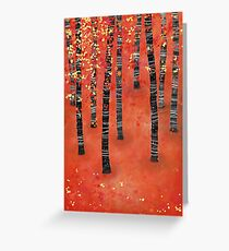 Birches - Autumn Woodland Abstract Landscape Greeting Card