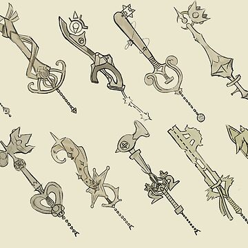 Super Smash Bros keyblades by Kiwitlm
