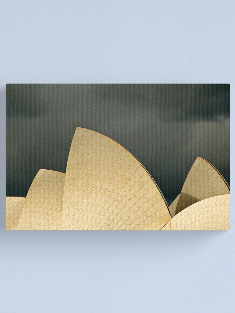 Alternate view of Stormy Sails Canvas Print