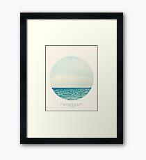 Salt Water Cure - Circle Print Framed Print