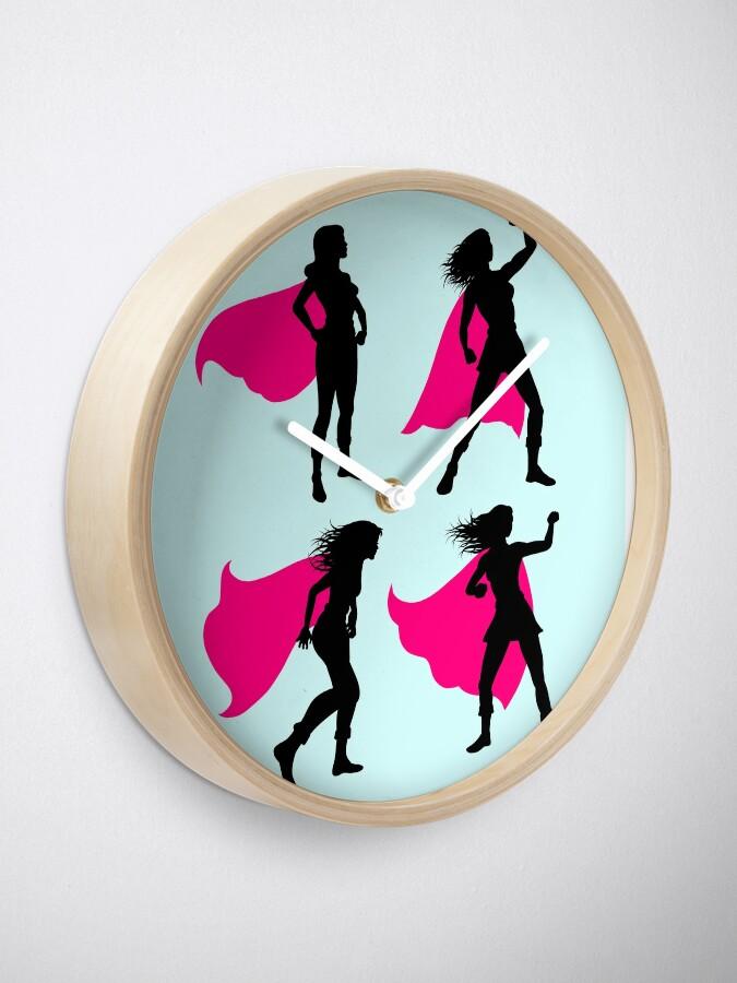 Alternate view of Superhero Clock