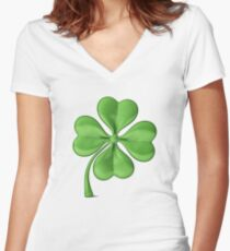 The Luck of the Irish! Good Luck! Women's Fitted V-Neck T-Shirt