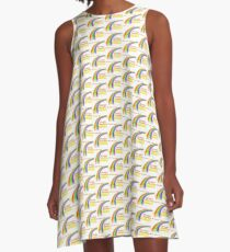 Dinosaur Sleepwalking, The Book of Yawns, Adventure 5 rainbow A-Line Dress