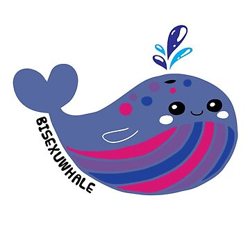 Bisexual Flag Bisexuwhale Pride by TheRainbowRoo
