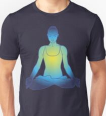 illustration beautiful woman doing yoga meditation Unisex T-Shirt