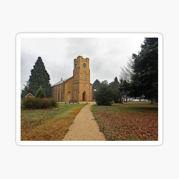 Longford Church, Tasmania Sticker