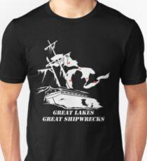 Great Lakes, Great Shipwrecks - White T-Shirt