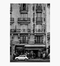 White Car in Paris Photographic Print