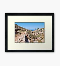 Path to Gera, Tilos Framed Print