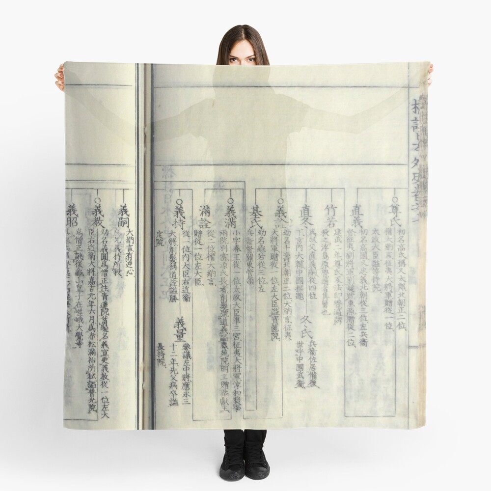 Japanese Book #4 Scarf