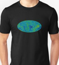 COSMOS, UNIVERSE, COSMIC, SPACE, BIG BANG, Nine Year Microwave Sky, 9 year WMAP image, background cosmic radiation Unisex T-Shirt