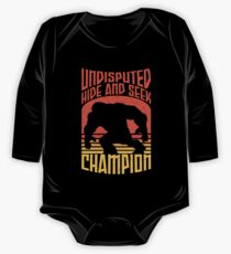 Bigfoot Funny Design - Undisputed Hide And Seek Champion One Piece - Long Sleeve