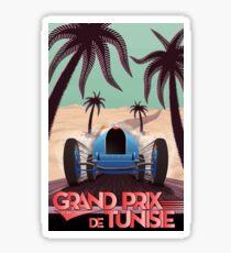 1933 Tunisian Grand Prix - Vintage Poster Design Sticker