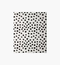 Preppy brushstroke free polka dots black and white spots dots dalmation animal spots design minimal Art Board