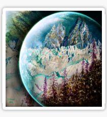 Planète glacéé Sticker