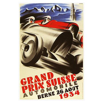 1934 Swiss Grand Prix - Vintage Poster Design by Chunga