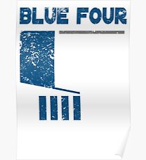 Blue 4 Poster