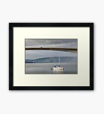 Yacht moored at Kyleakin, Isle of Skye Framed Print
