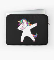 Dabbing Unicorn Dab Meme Rainbow Colorful Cute Dance Laptop Sleeve