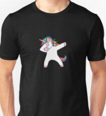 Dabbing Unicorn Dab Meme Rainbow Colorful Cute Dance Unisex T-Shirt