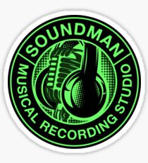Green Soundman Sticker
