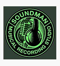 Green Soundman Photographic Print