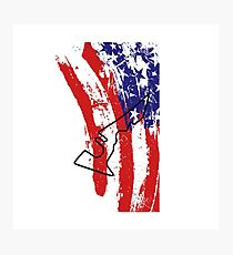 Circuit of the Americas US Flag Photographic Print