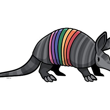 Rainbow Armadillo by Jennifer-Smith