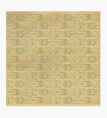 Golden Celtic Pattern on canvas texture Photographic Print